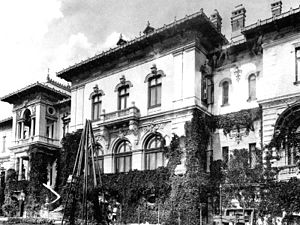 Cotroceni Palace - Early 1900s photograph of Cotroceni Palace, taken by Romanian photographer Alexander Antoniu.
