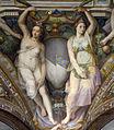 Palazzo capponi-vettori, salone poccetti, pennacchio con stemma capponi vettori, 2.JPG