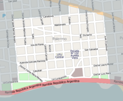 Street map of Palermo