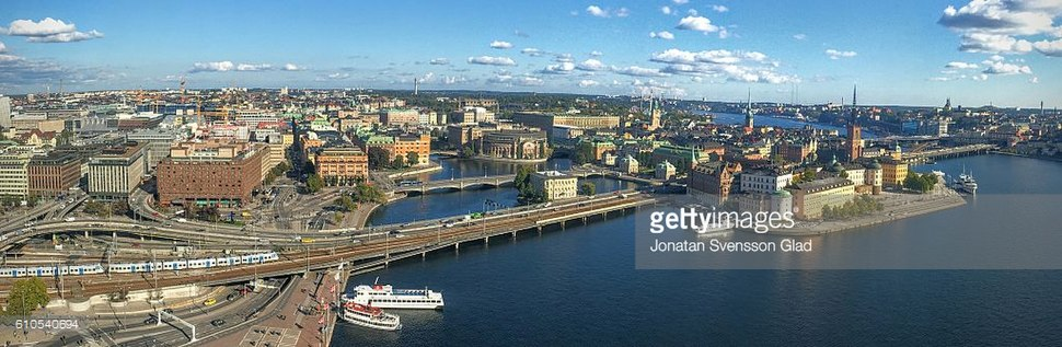 Panorama of Stockholm with Getty Images watermark