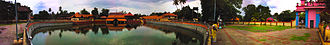 Ambalappuzha Sri Krishna Temple - panoramic view of Ambalappuzha Sri Krishna Temple and pool