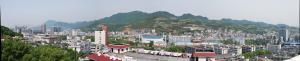Jishou - Image: Panoramic view of Jishou from Jishou University