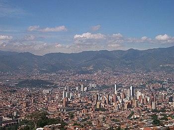 Panoramica de Medellin-Colombia
