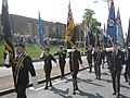 Parade of Flag bearers, on Dock Road on Armed Forces Day - geograph.org.uk - 1378166.jpg