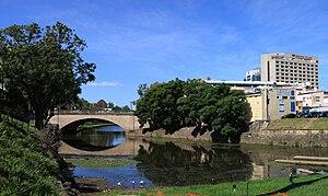Lennox Bridge, Parramatta - The Lennox Bridge in Parramatta, from the west.