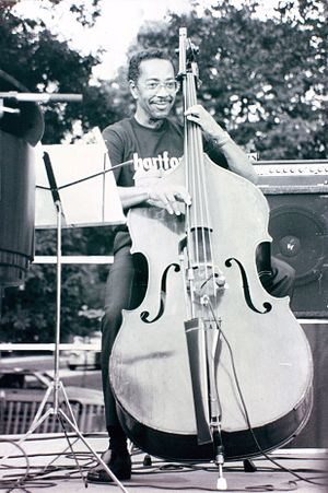 Paul H. Brown -  Paul Brown on bandstand in Bushnell Park, Hartford, CT, summer 1994