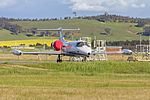 Pel-Air (VH-SLF) Learjet 36A parked at Wagga Wagga Airport.jpg