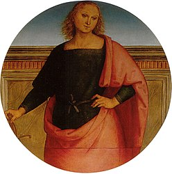 Pietro Perugino: Young Saint with a Sword