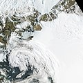 Petermann Glacier - calving event July 16, 2012.jpg