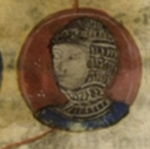Peter I of Courtenay - Peter dressed like a warrior in chain mail, from a medieval illuminated manuscript