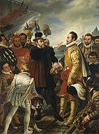 Philip II of Spain berating William the Silent Prince of Orange by Cornelis Kruseman