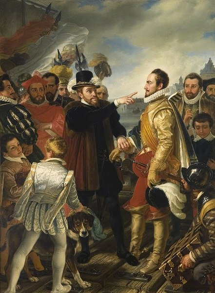 Philip II of Spain berating William the Silent Prince of Orange by Cornelis Kruseman