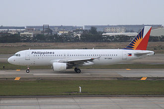 Philippine Airlines - A Philippine Airlines A320 at Taoyuan International Airport. The A320 is one of PAL's first narrow body aircraft.