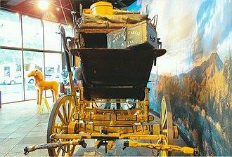 Wells Fargo Museum (Phoenix) - Image: Phoenix Wells Fargo Museum 1860 Wells fargo Stagecoach 2