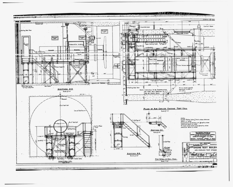 file photocopy of engineering drawing  may  1941  original