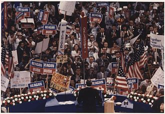 1980 in Michigan - Ronald Reagan at Republican National Convention in Detroit