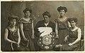 Photographic postcard of 'Mrs Whitehead's Life Saving Team' (10322704063).jpg
