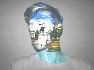 Adobe Photoshop - A self-portrait photo merge, created using Photoshop