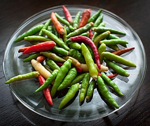 Bird's eye chili - Bird's eye chilis of assorted colors