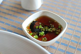 "Fish sauce - Phrik nam pla (""Chilli with fish sauce"") is served with nearly every Thai meal."