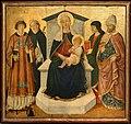 Pier francesco fiorentino, madona col bambino tra i ss. lorenzo, pietro martire, un evangelista e biagio, 1475-1500 ca., 01.jpg
