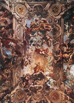 Pietro da Cortona - Allegory of Divine Provide...