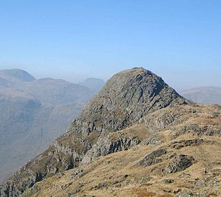 Pike of Stickle mountain in England