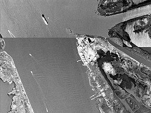 Pilottown, Louisiana - Pilottown, Louisiana, as ships pass by on the Mississippi
