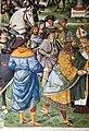 Pinturicchio, liberia piccolomini, 1502-07 circa, Enea Silvio, vescovo di Siena, presenta Eleonora di Portogallo all'imperatore Federico III 07.JPG