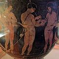 Pittore degli argonauti (etrusco), cratere con personaggi maschili nudi, prbabilm. argonauti, 400-380 ac ca, da chiusi 02.JPG