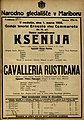 Plakat za predstavi Ksenija in Cavalleria Rusticana v Narodnem gledališču v Mariboru 1. marca 1925.jpg