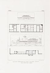 Plans et élévations de deux grandes maisons, l´une de ville et l´autre de campagne
