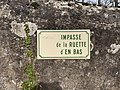 Plaque Impasse Ruette Bas - Solutré-Pouilly (FR71) - 2021-03-02 - 2.jpg