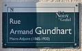 Plaque Rue Armand Dundhart - Noisy-le-Grand (FR93) - 2021-04-24 - 1.jpg