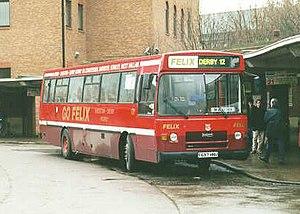 Felix Bus Services - Plaxton Derwent bodied Leyland Tiger at Derby bus station