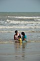 Playful Family with Sea Waves - New Digha Beach - East Midnapore 2015-05-01 8764.JPG