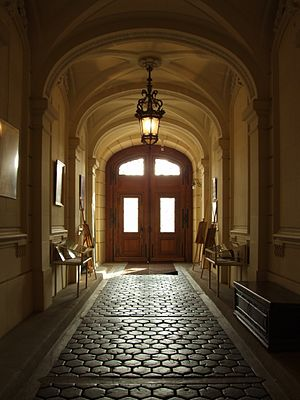 Pszczyna (Pless) Palace - the Entrance Hall