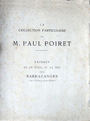Galerie Barbazanges - Program for the 1923 exhibition of the Art collection of Paul Poiret