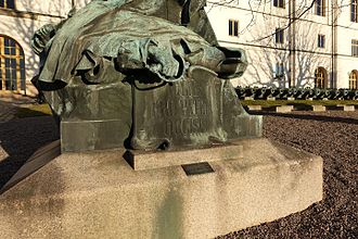 "Battle of Poltava - The inscription on the monument in Stockholm: ""To the fallen sons of the Fatherland"" (Latin: ""Filiis pro patria occisis"")."