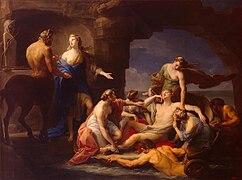 Pompeo Batoni - Teti richiama Achille dal Centauro Chirone (1770)
