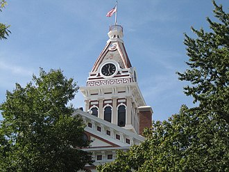Livingston County Courthouse (Illinois) - The clock tower was added in 1892