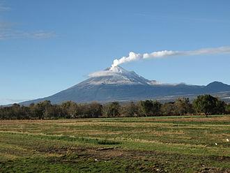 Popocatépetl - Image: Popocatépetl fumarola