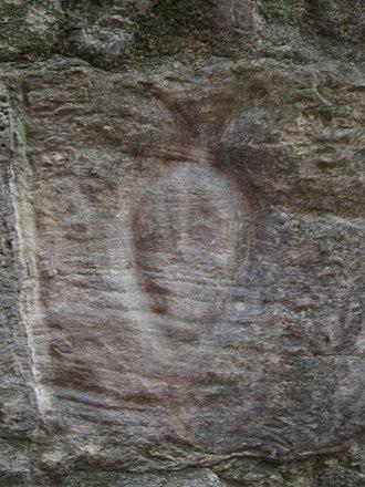 Graffito (archaeology) - Image: Porta Pediculosa (particolare pidocchio)