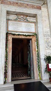 Porta santa della basilica di San Giovanni in Laterano aperta per il Giubileo straordinario della misericordia 2015-2016