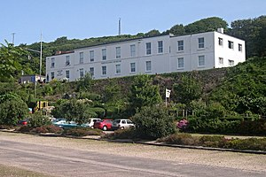 Porthcurno Telegraph Museum - The museum building in front of the tunnels
