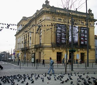 São João National Theatre - The typical view of the theatre in the 20th century