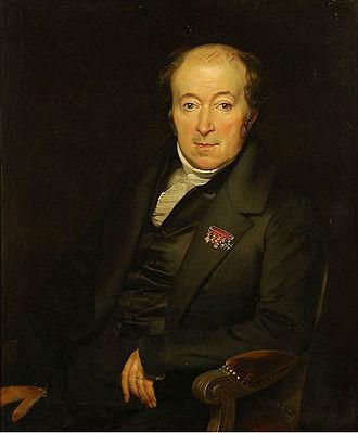 Mattheus Ignatius van Bree - Portrait of Van Bree, painted by Antoon van Ysendyck