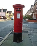Post box on Woodlands Road, Aigburth.jpg