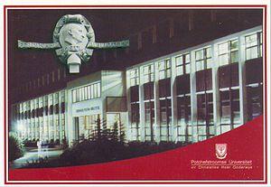 Potchefstroom University for Christian Higher Education - Potchefstroom University Library (old postcard)