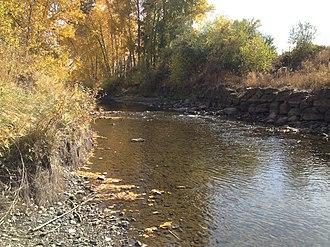 Powder River (Oregon) - The Powder River at Baker City